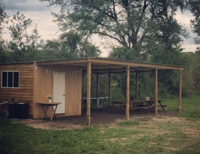 Communal Shelter and Kitchen