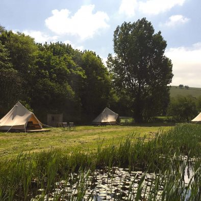 Bell Tents at Chalke Valley